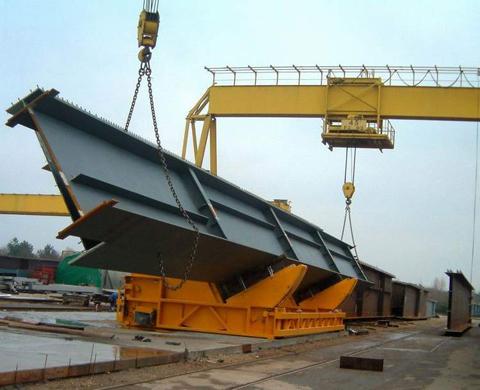 Easy-tec 90 graden kantelaar voor brugdelen. Geschikt voor brugdelen tot 80.000 kg